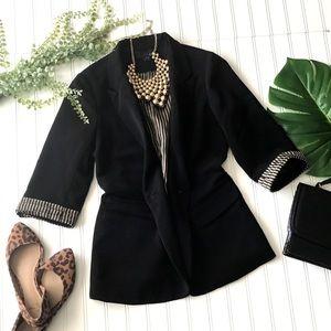 Forever 21 3/4 sleeve black blazer